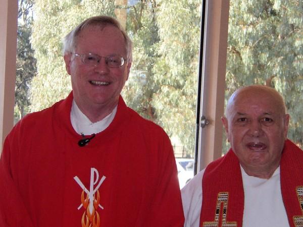 Fr Kevin (Left)