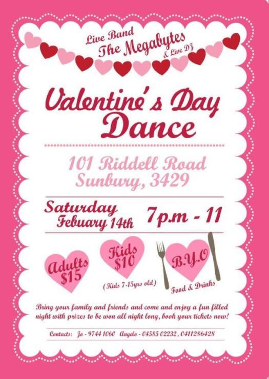 Valentines Day Flyer Body