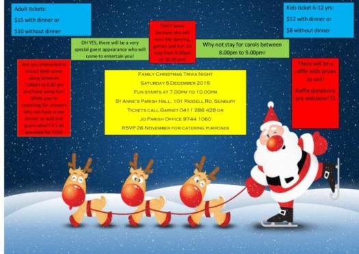 family christmas trivia flyer